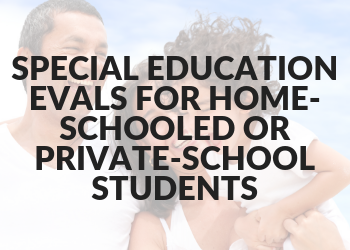 Special Education Evals